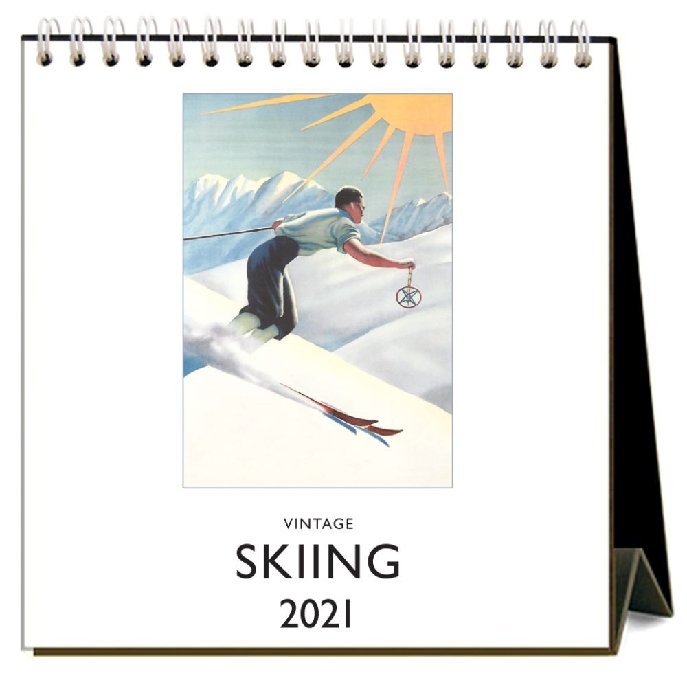 Top 2021 Skiing Easel Calendar