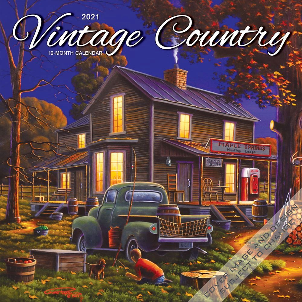 2021 Vintage Country Wall Calendar