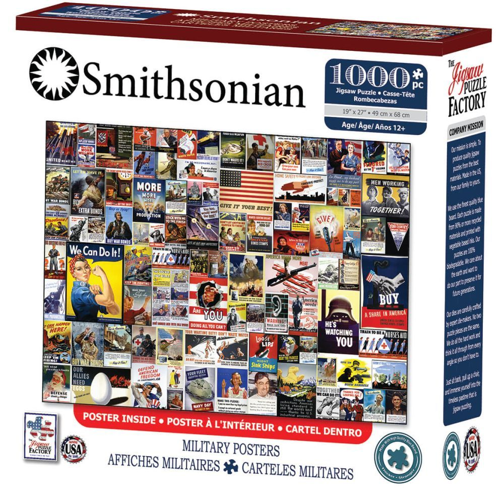 Best Smithsonian Military Posters 1000 pc Puzzle You Can Buy