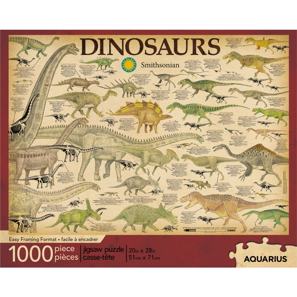 Best Smithsonian Dinosaurs 1000pc Puzzle You Can Buy