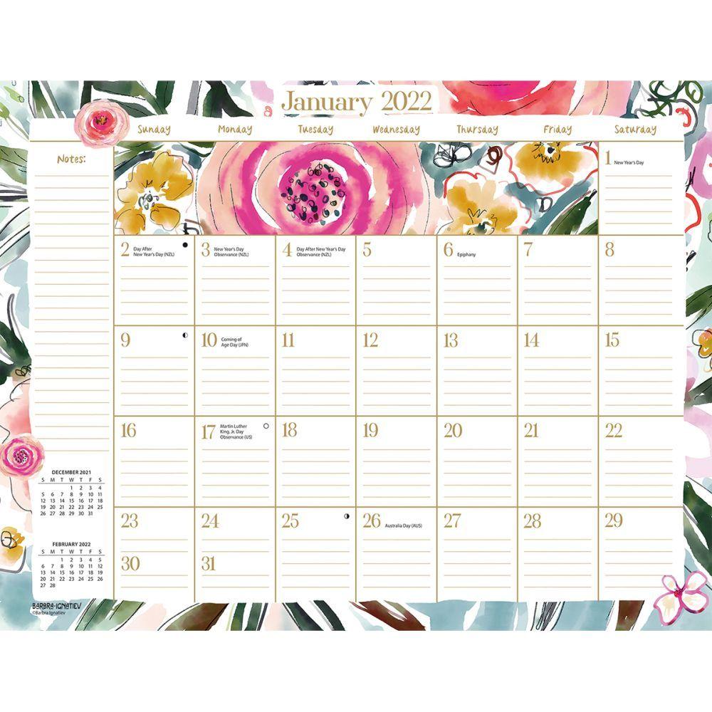 Wild At Heart 2022 Desk Pad Calendar
