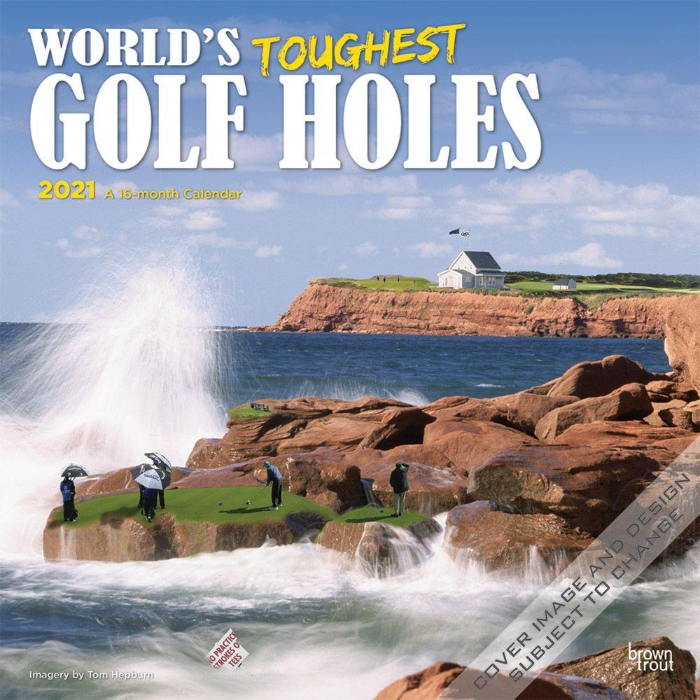 2021 Toughest Golf Holes Wall Calendar