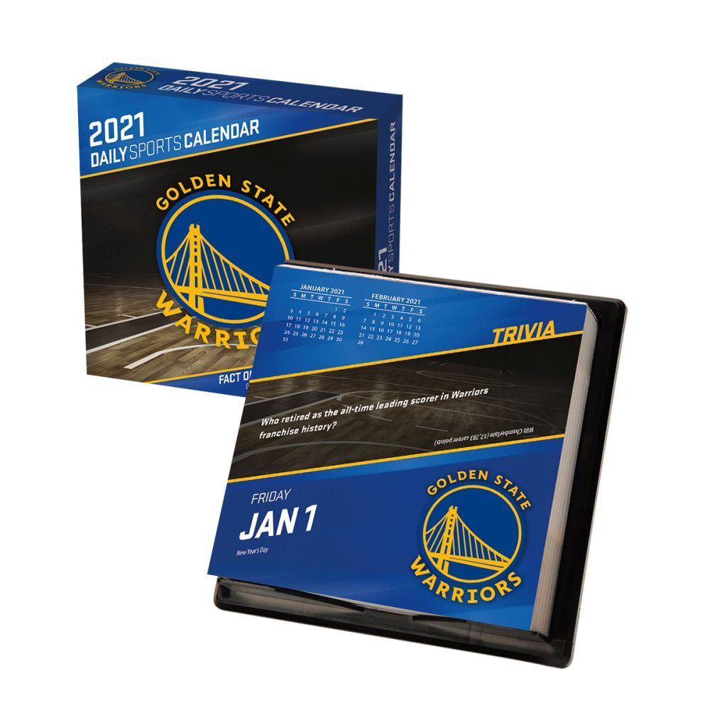 2021 Golden State Warriors Desk Calendar
