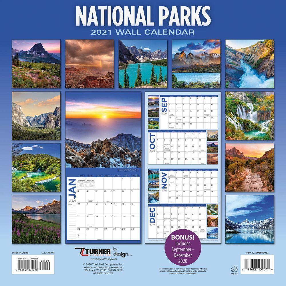 National Parks Wall Calendar - Calendars.com