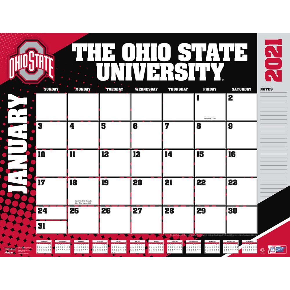 Ohio State Buckeyes 2021 Desk Pad