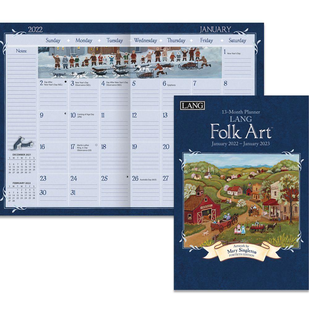 Lang Folk Art 2022 Monthly Planner