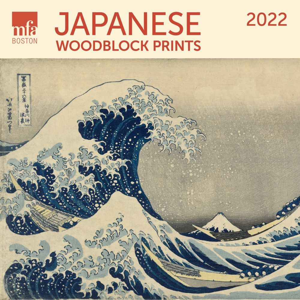 Japanese Woodblocks MFA 2022 Wall Calendar