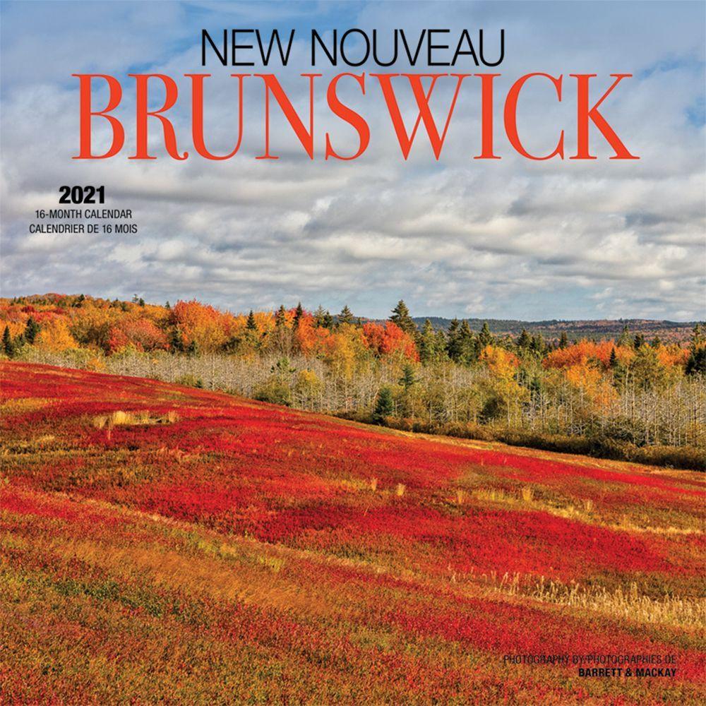 2021 New Brunswick Wall Calendar (French)