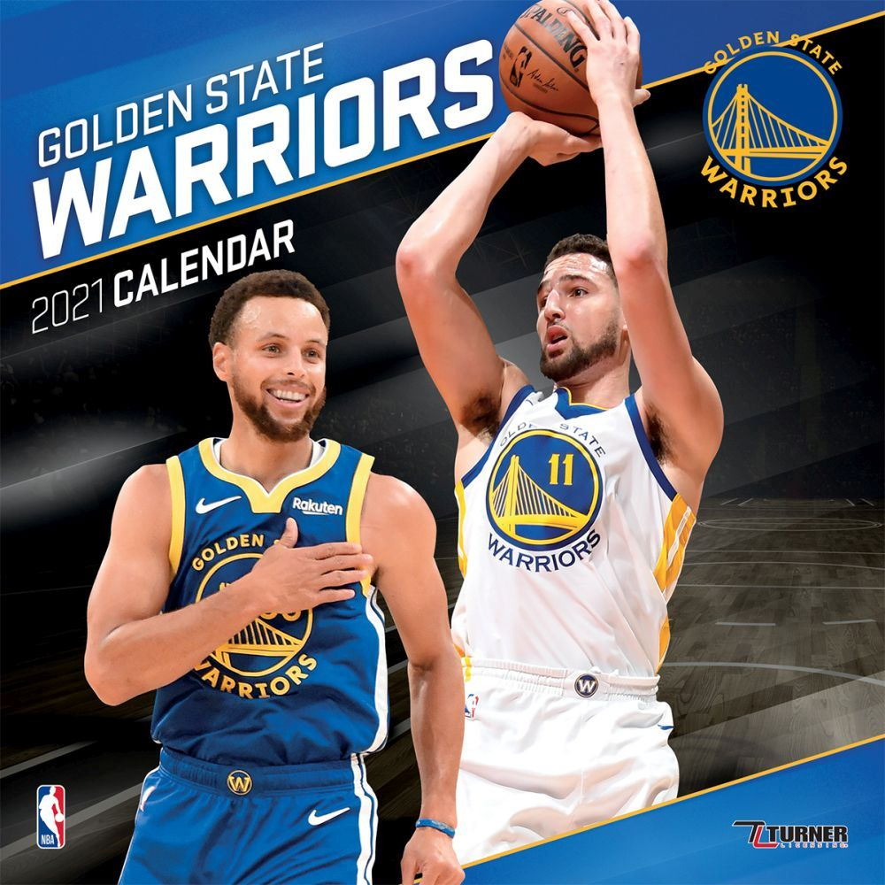 2021 Golden State Warriors Team Wall Calendar