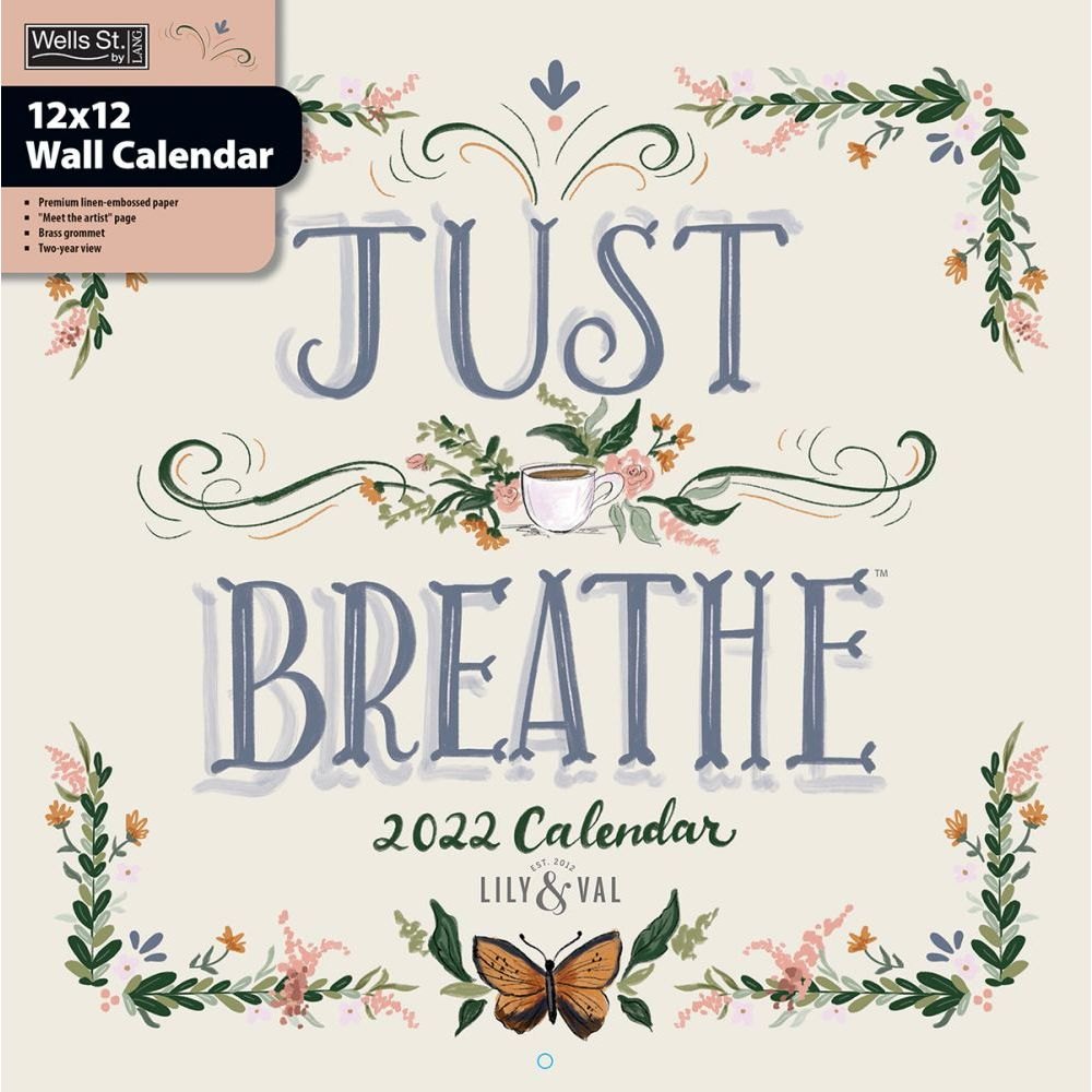 Just Breathe 2022 Wall Calendar