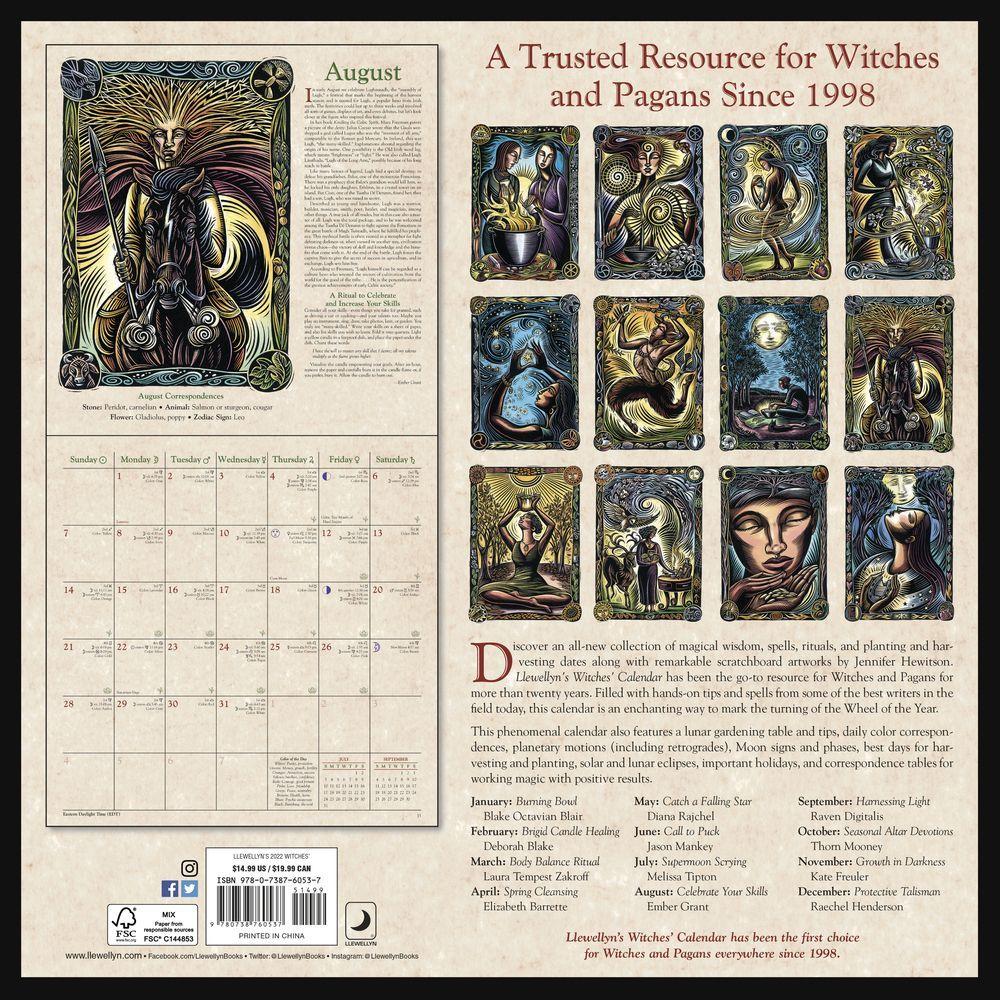 Pagan Calendar 2022.Witches 2022 Wall Calendar Calendars Com