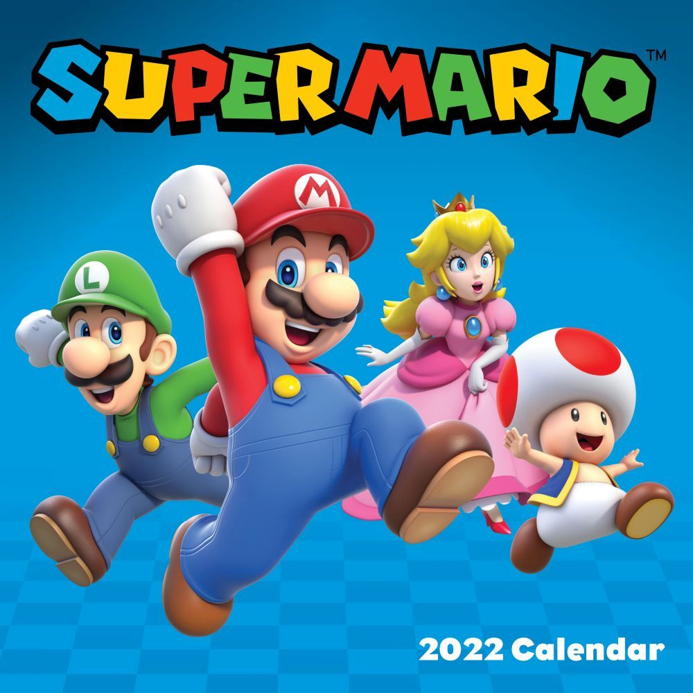The Official Super Mario Brothers 2022 Wall Calendar