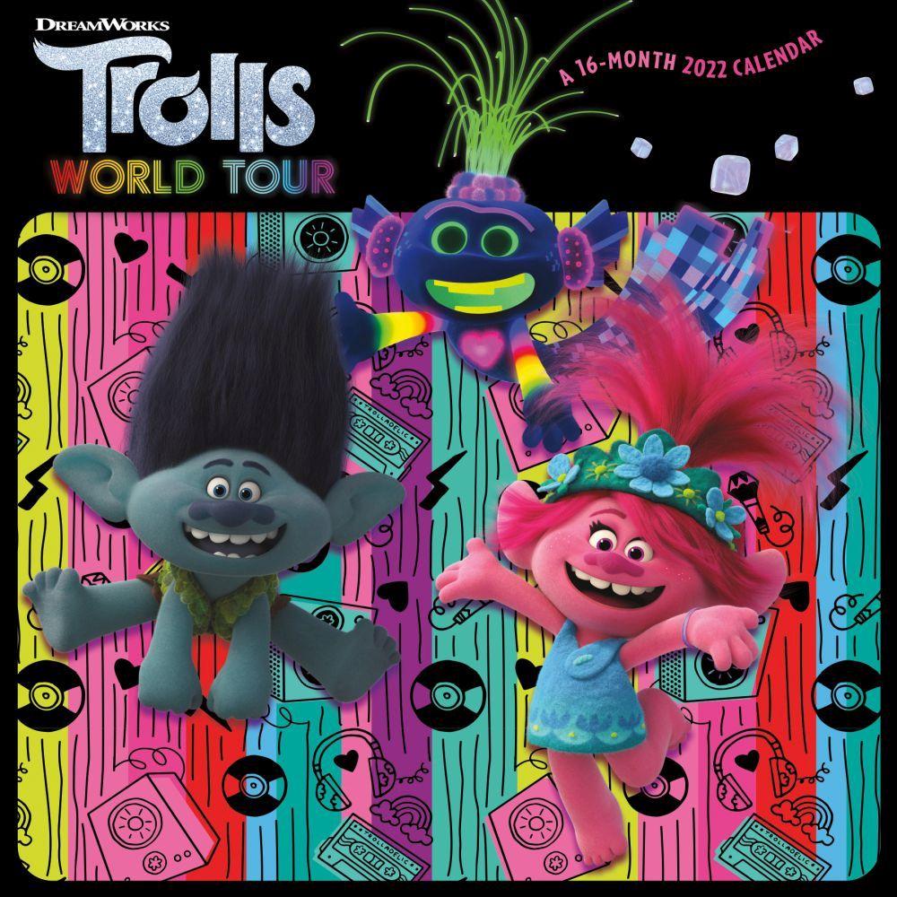 Trolls World Tour 2022 Wall Calendar
