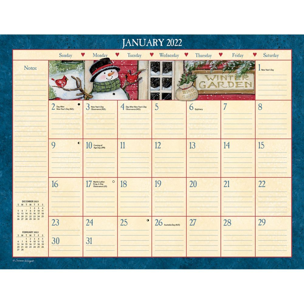 Susan Winget Heart & Home 2022 Desk Pad