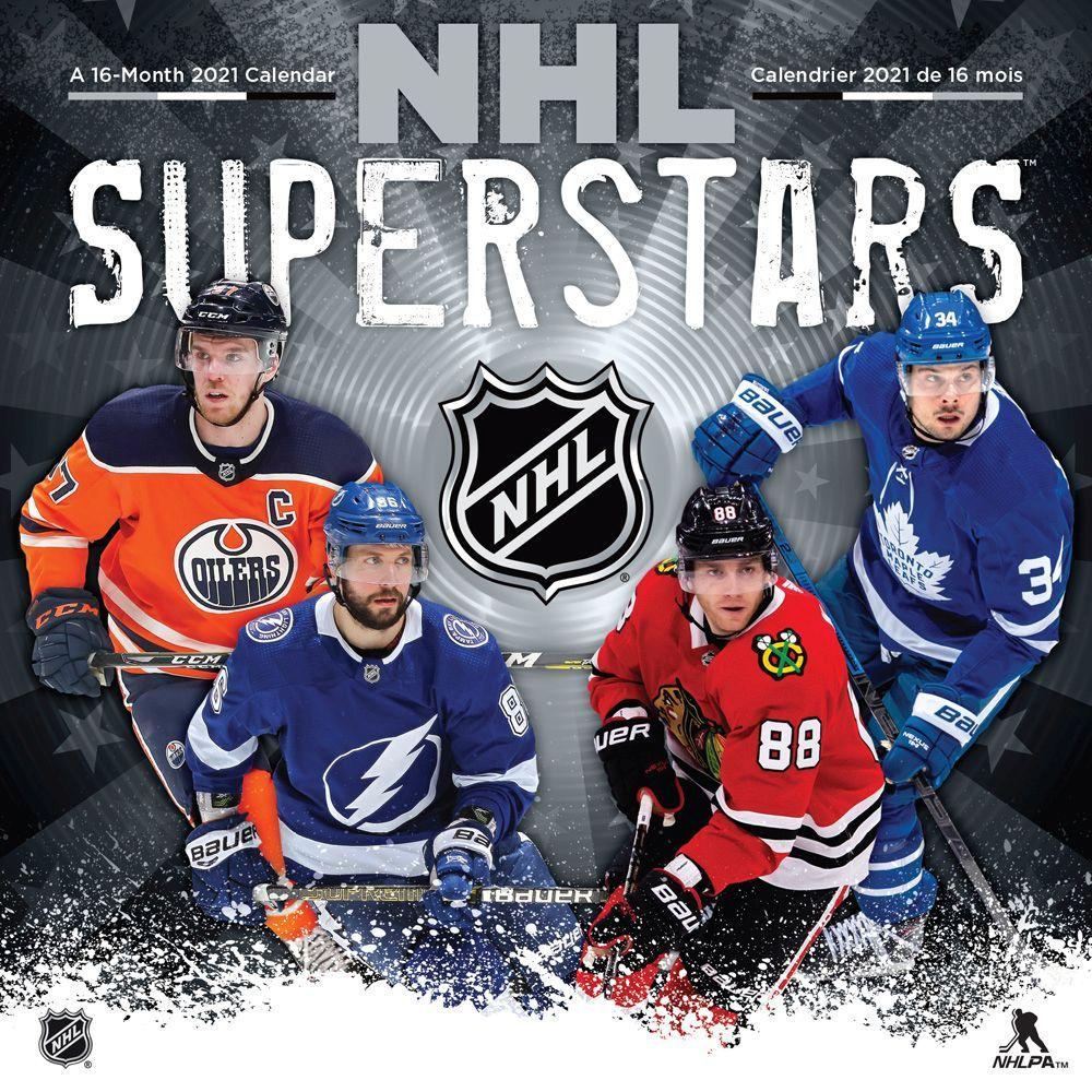 2021 NHL Superstars Wall Calendar