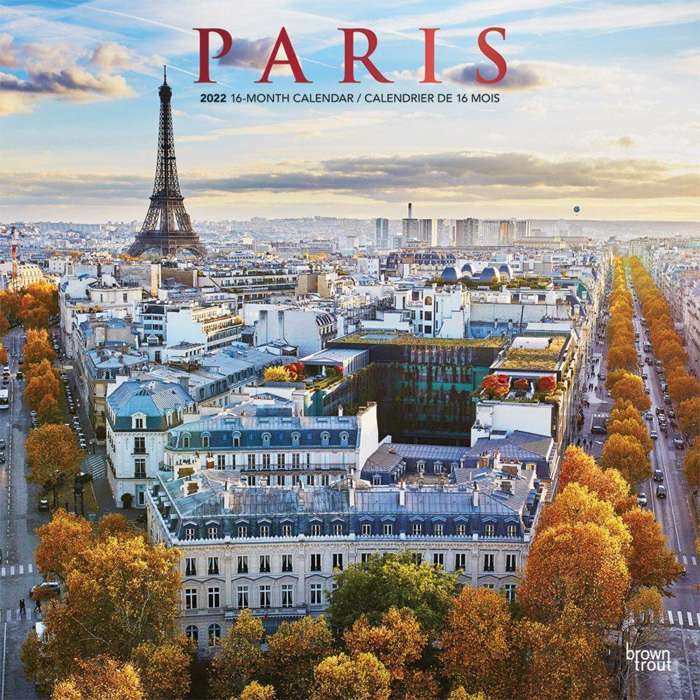 Calendrier 2022 Paris 1 Paris 2022 Wall Calendar (ENGLISH FRENCH)   Calendars.com