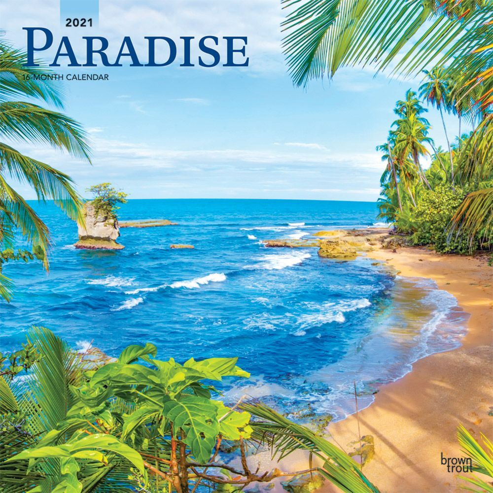 2021 Paradise Wall Calendar