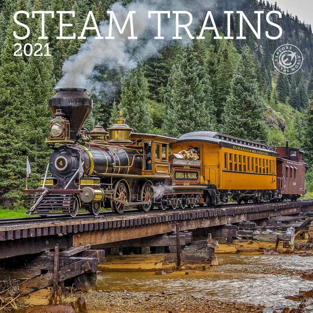 Best 2021 Steam Trains Mini Wall Calendar