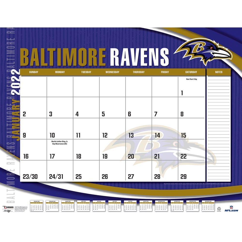 Baltimore Ravens 2022 Desk Pad