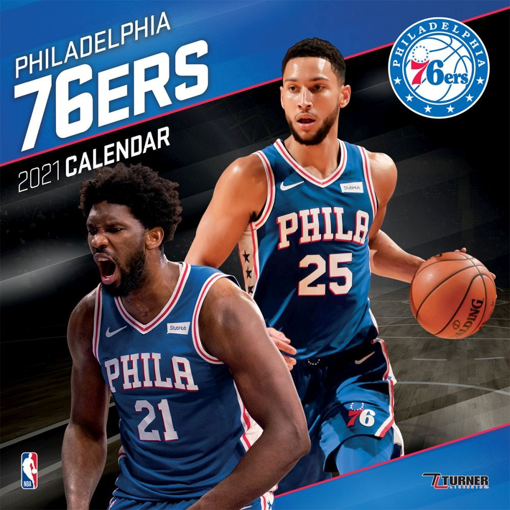 2021 Philadelphia 76ers Team Wall Calendar