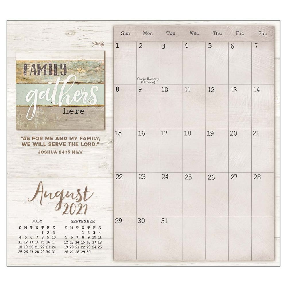 2021 Faith and Family Magnetic Calendar