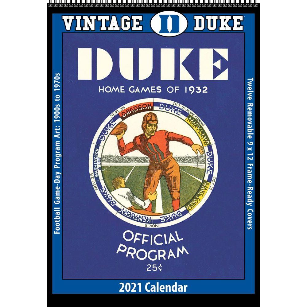 Vintage Duke Blue Devils Football 2021 Poster Calendar