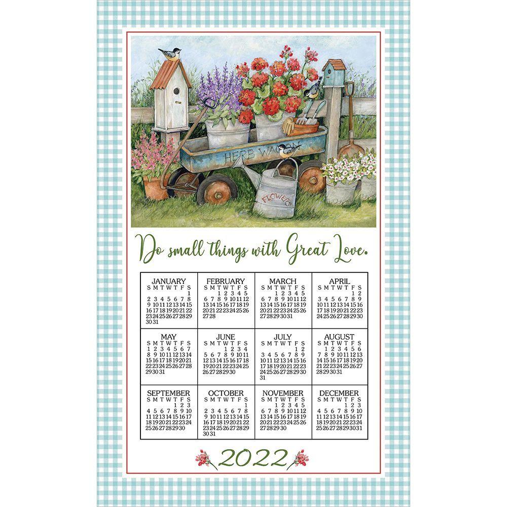 Blue Wagon 2022 Kitchen Towel Calendar