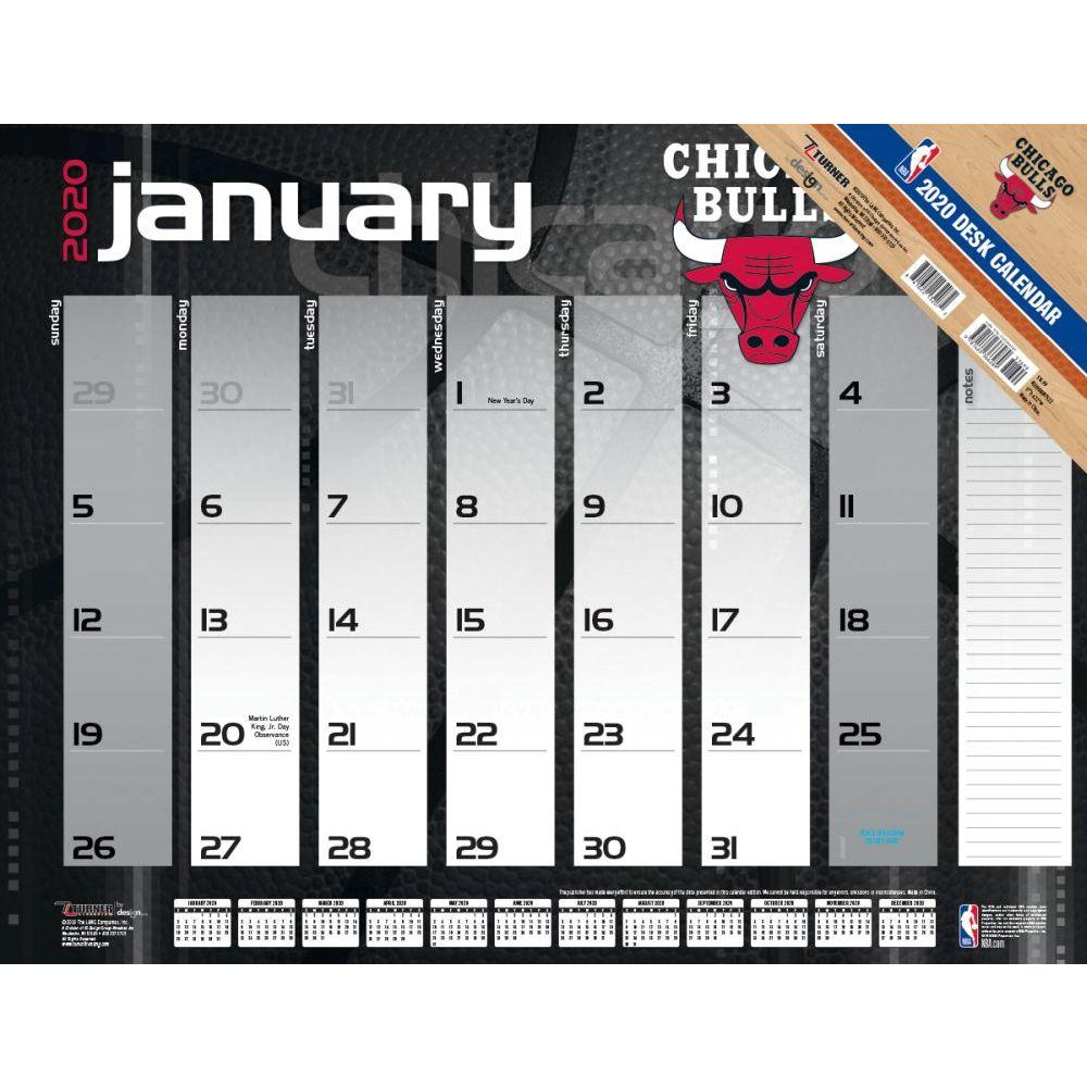 Chicago Bulls 2021 Desk Pad