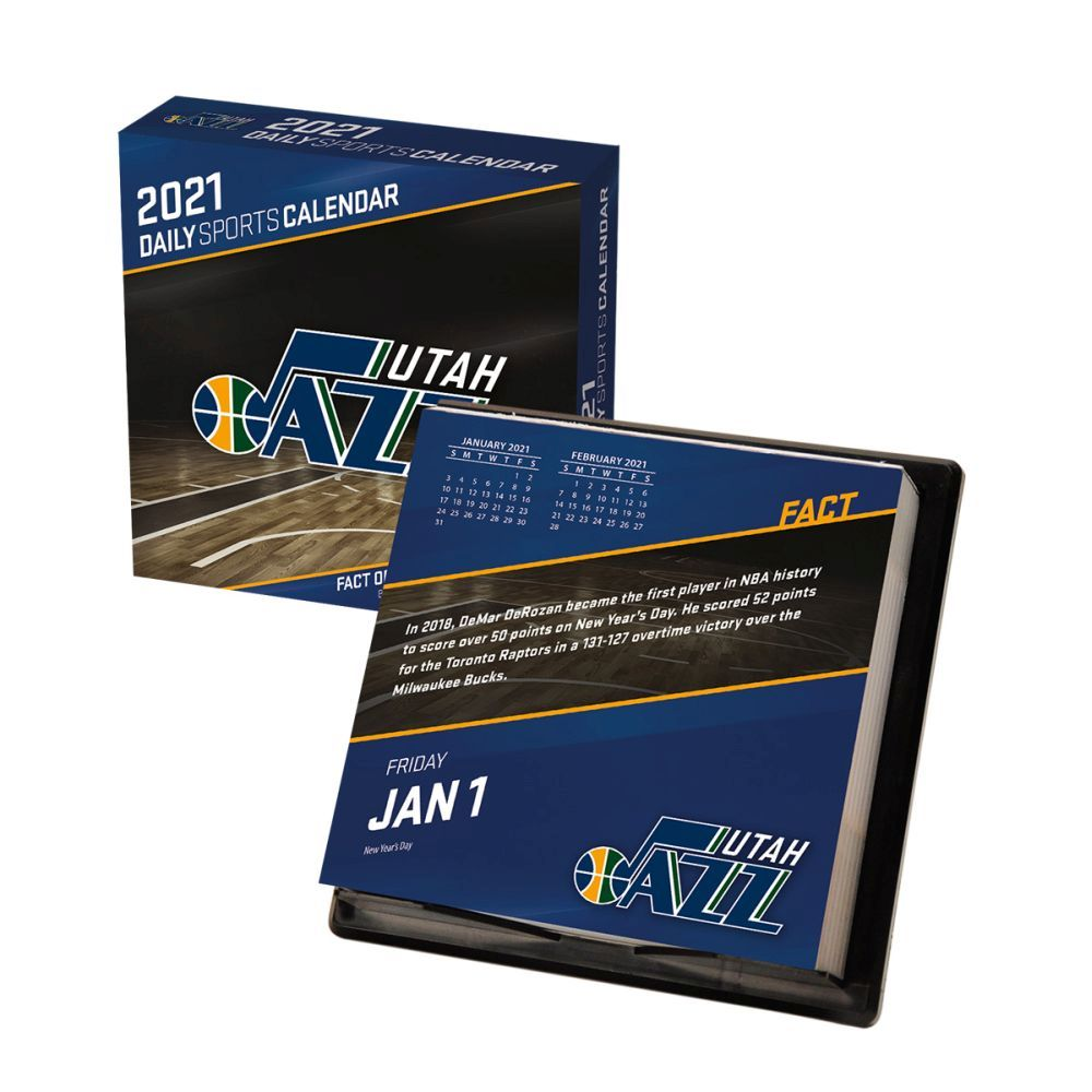 2021 NBA Utah Jazz Desk Calendar