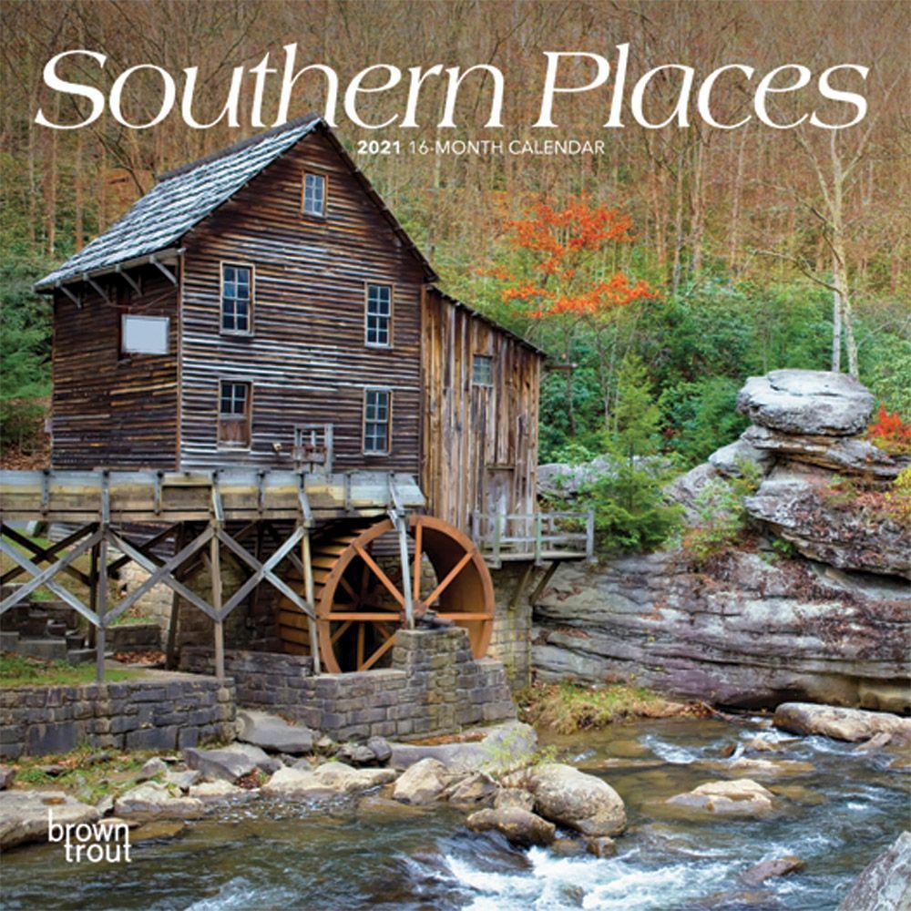 Southern Places 2021 Mini Wall Calendar