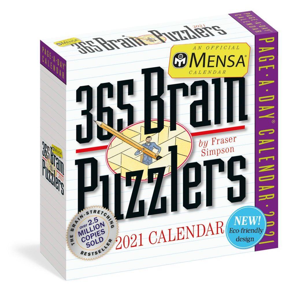 365 Mensa Brain Puzzlers Page-A-Day 2021 Desk Calendar