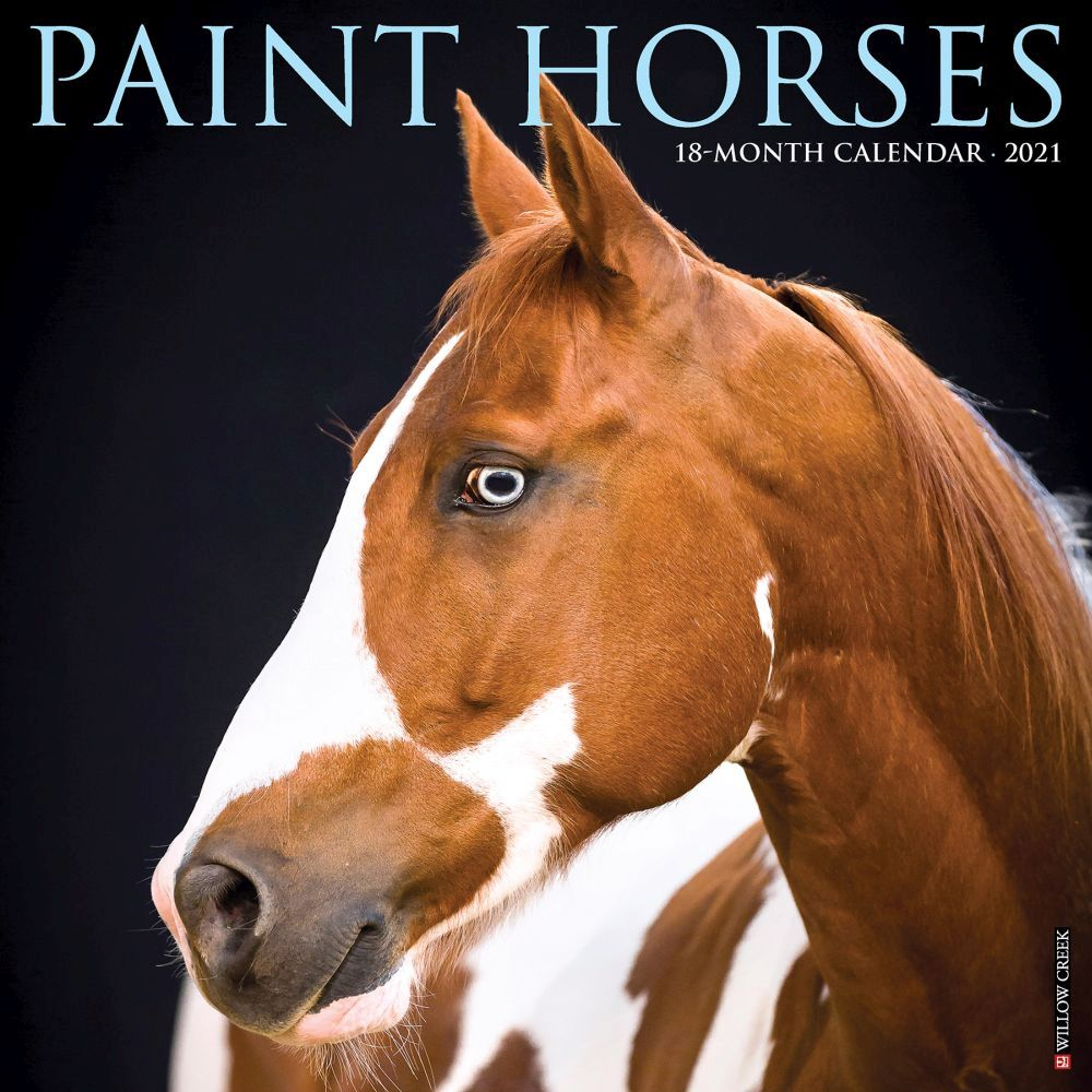 Paint Horses 2021 Wall Calendar