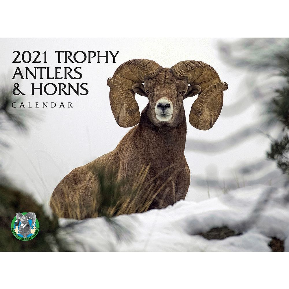 2021 Trophy Antlers and Horns Wall Calendar