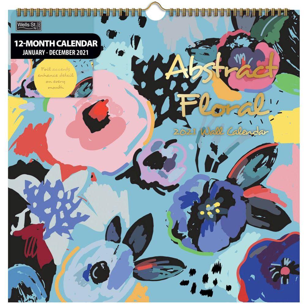 2021 Abstract Floral Spiral Calendar