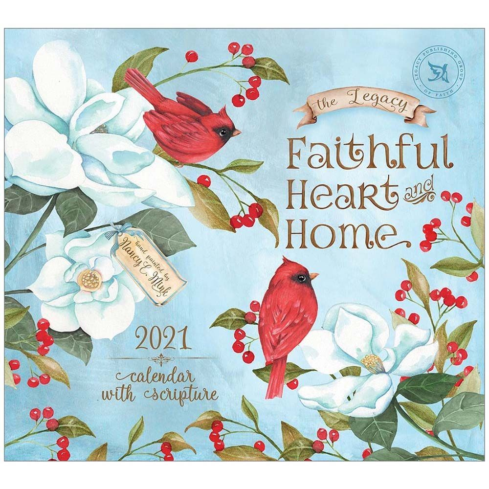 2021 Faithful Heart and Home Mini Wall Calendar
