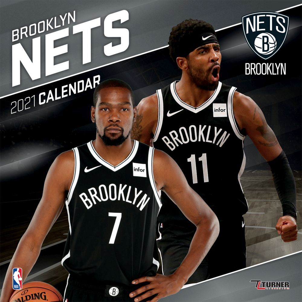 2021 Brooklyn Nets Team Wall Calendar