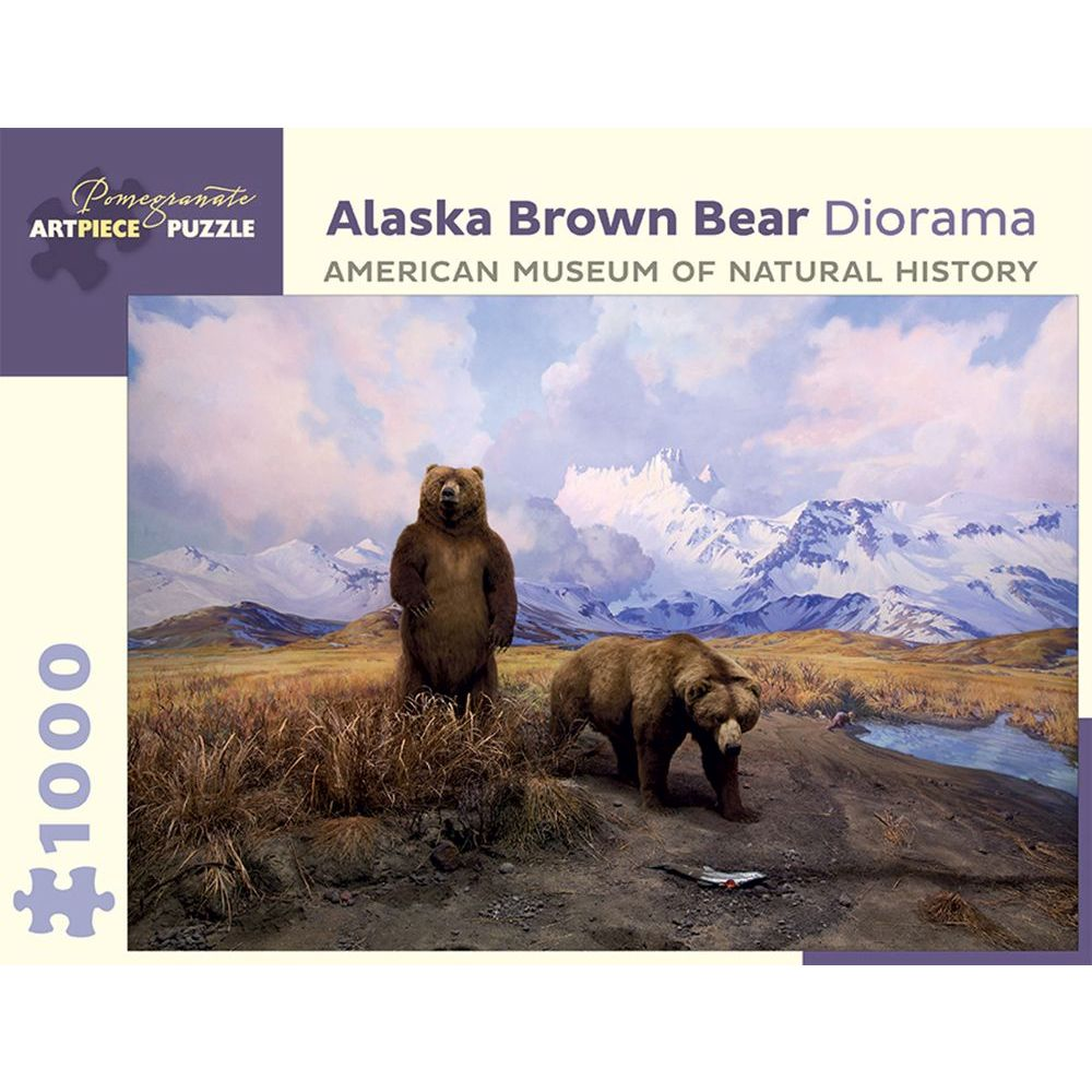 Best Alaska Brown Bear Diorama 1000 pc Puzzle You Can Buy