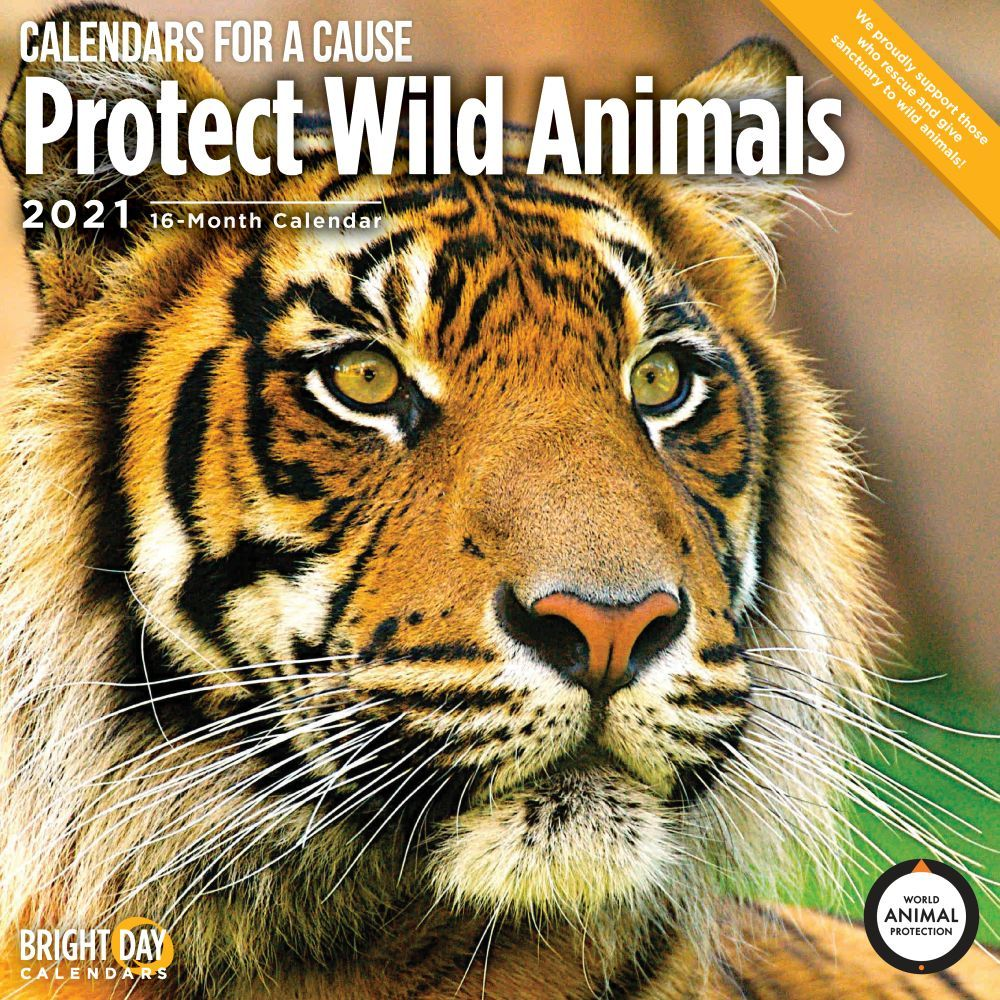 Protect Wild Animals 2021 Wall Calendar