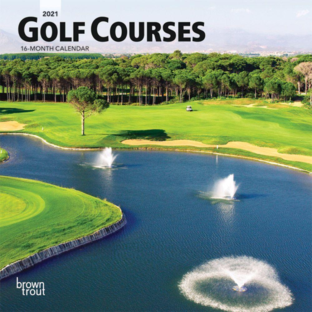 2021 Golf Mini Wall Calendar