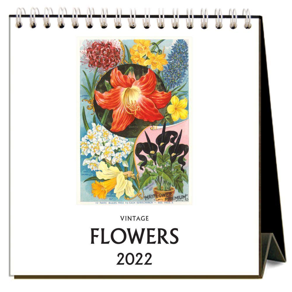 Flowers 2022 Desk Calendar