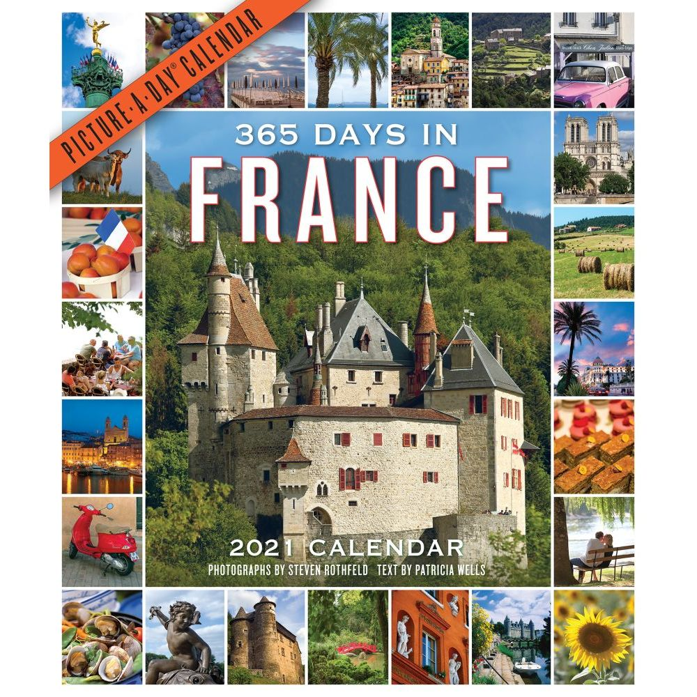 365 Days in France 2021 Wall Calendar
