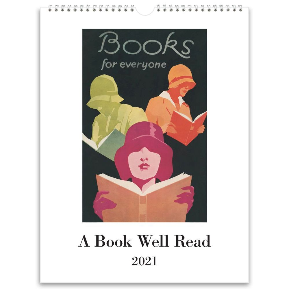 2021 Book Well Read Wall Calendar