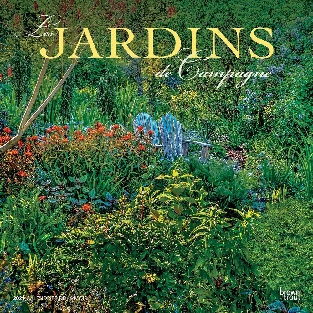 2021 Gardens Jardins de campagne Wall Calendar (French)