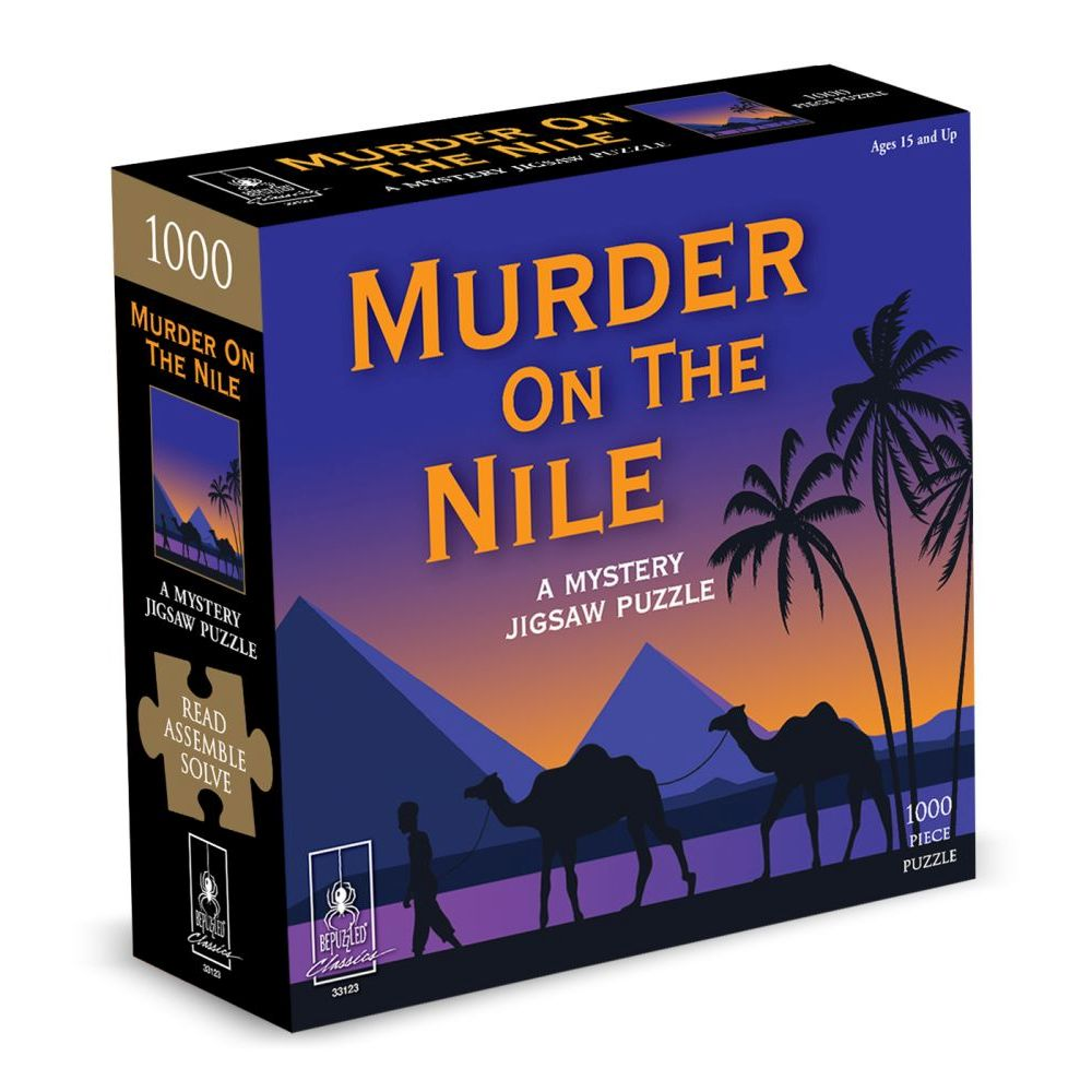 Best Murder on the Nile Mystery 1000pc Puzzle You Can Buy