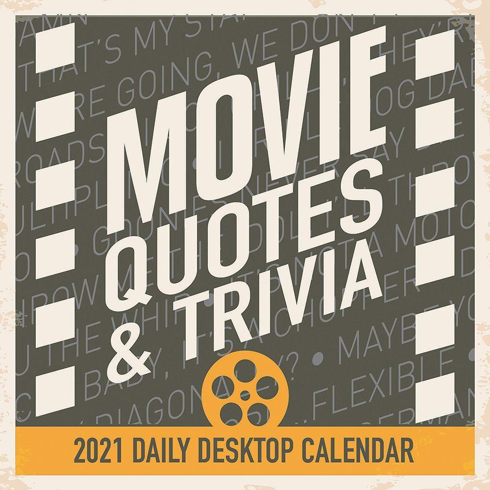 Movie Quotes 2021 Desk Calendar