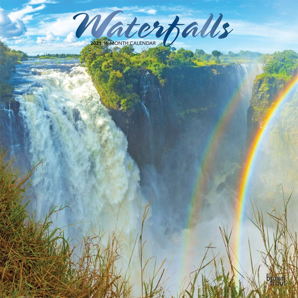 2021 Waterfalls Wall Calendar