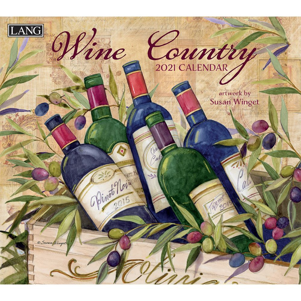 Susan Winget Wine Country 2021 Wall Calendar