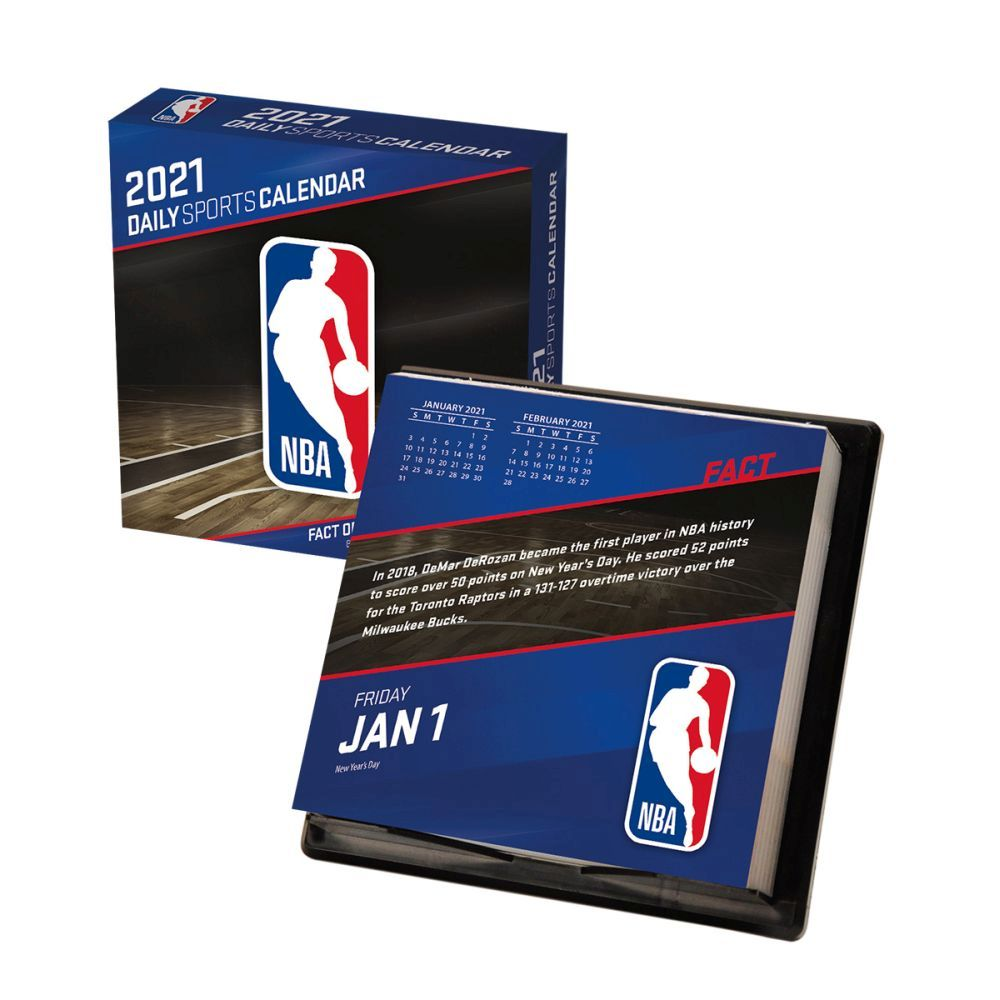 2021 NBA All Team Desk Calendar