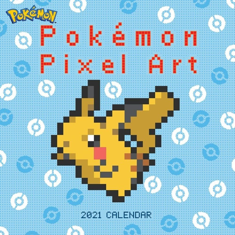 2021 Pokemon Pixel Art Wall Calendar