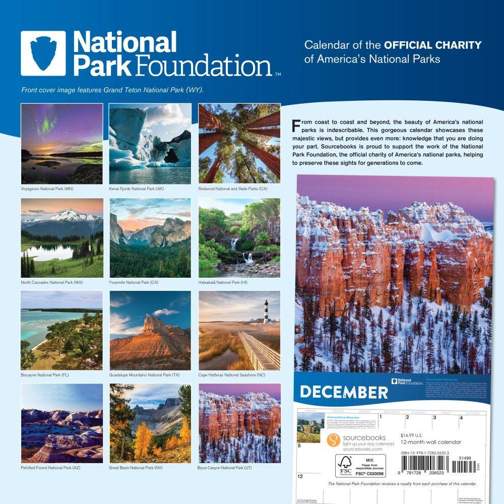 National Park Foundation Wall Calendar